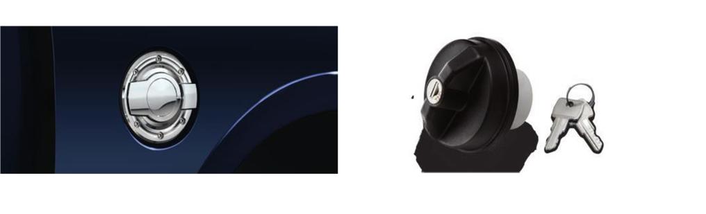 Tankdeckel und Chromdeckel Tank