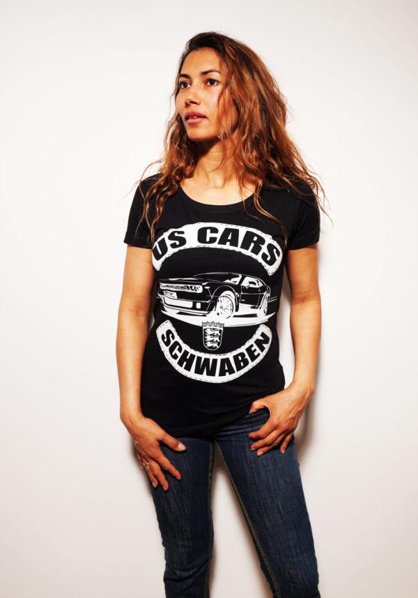 US CAR SCHWABEN BACK WOMAN